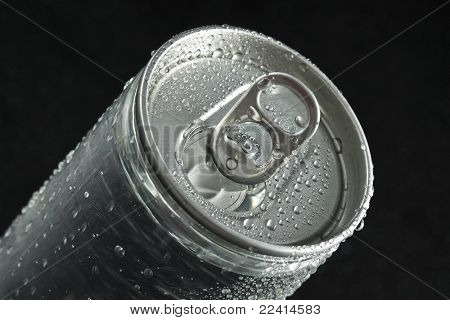drink can with water droplets