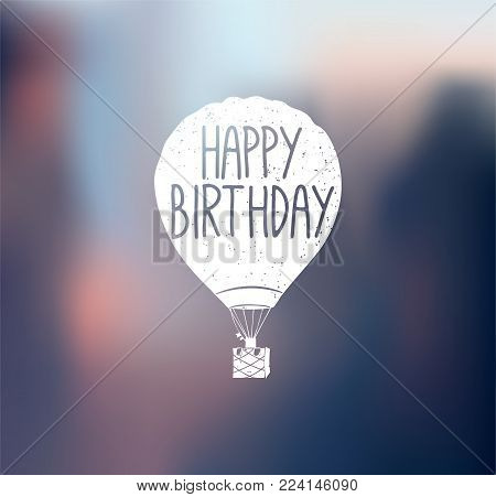 Aircraft logo. Aeronautics. Happy bithday Vector Illustration isolated on color background.