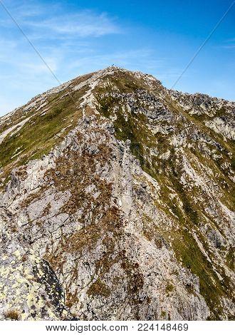 Banikov peak on Rohace mountain group in Western Tatras mountains in Slovakia