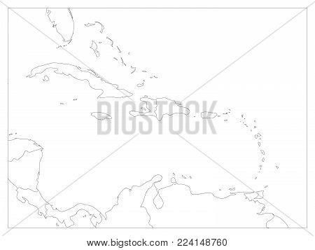 Central America Carribean States Vector Photo Bigstock