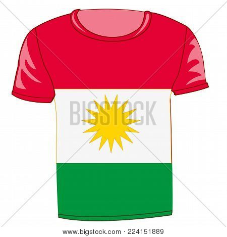 T-shirt with flag of the kurds T-shirt with flag of the kurds