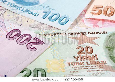 Turkish Lira Background