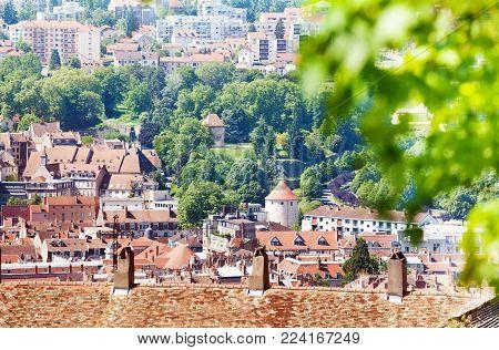 Beautiful cityscape of Besancon in summer, France, Europe