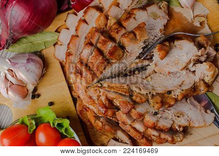 scapula,tenderloin baked,pork baked,baked pork delicacies,pork by royalty.