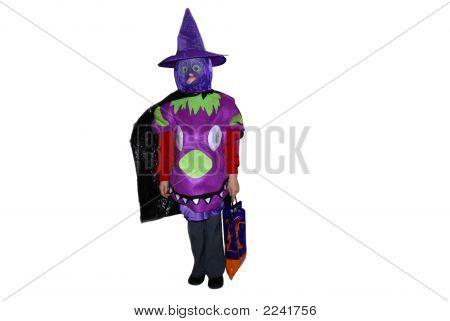 Girl In A Halloween Costume.