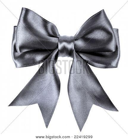 black ribbon bow isolated on white