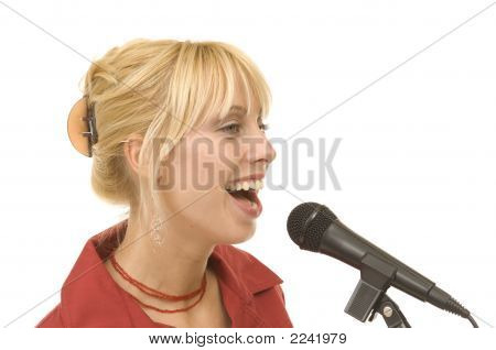 Singing Woman, Microphone