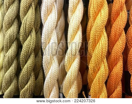 the Hot thread color Yarn of yarn