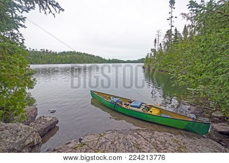 Quiet Spot on the Shore of Ottertrack Lake in the Boundary Waters of Minnesota