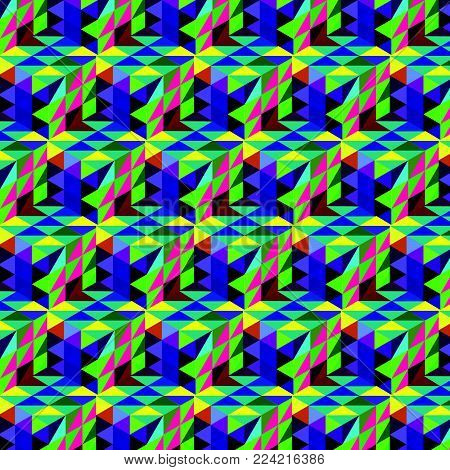 Abstract cube pattern. Colorful design, geometric 3d vector wallpaper, cube colorful pattern background.
