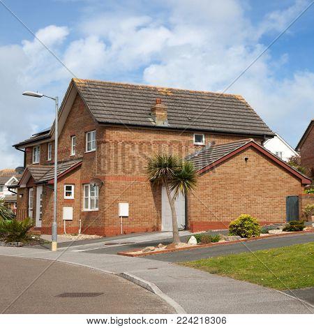 Typical english house,Cornwal England UK