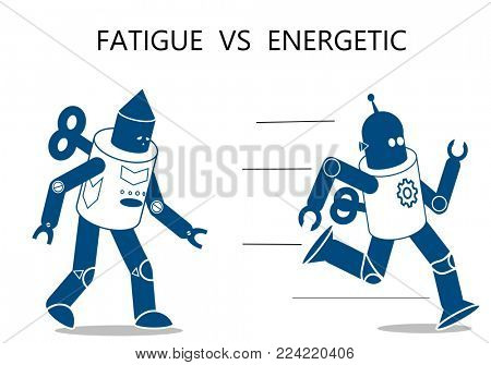 Fatigue robot and energetic robot