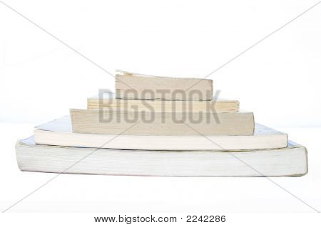 Isolated Pile Of Books