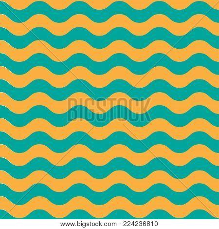 Wave sea horisontal pattern bright background. Vector illustration