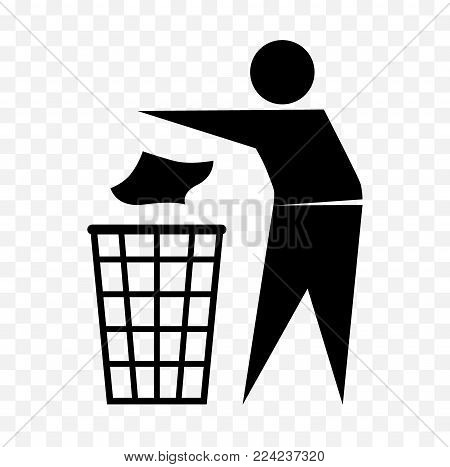 do not litter sign, keep clean label
