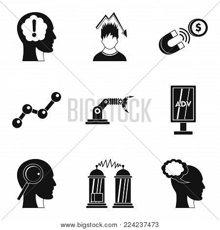Brilliant idea icons set. Simple set of 9 brilliant idea vector icons for web isolated on white background