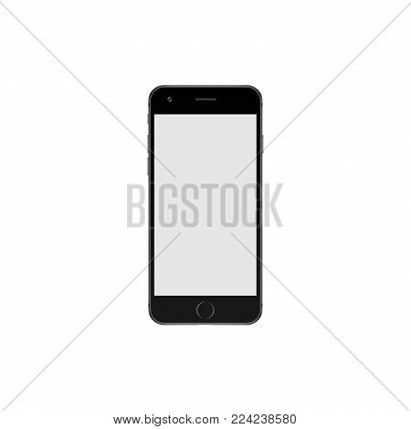 Vector image of mobile phone on white background.