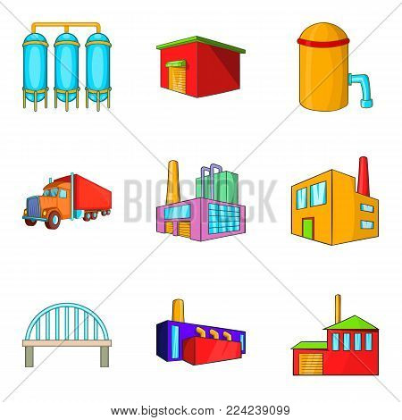 Labour exchange icons set. Cartoon set of 9 labour exchange vector icons for web isolated on white background poster