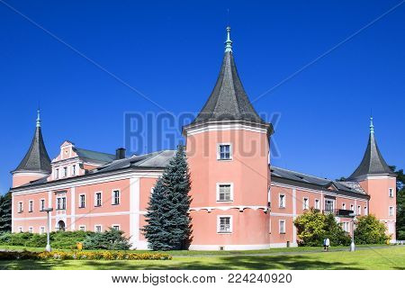 CZECH REPUBLIC, SOKOLOV - SEPT 22, 2015: classicist castle in town Sokolov, West Bohemia, Czech republic