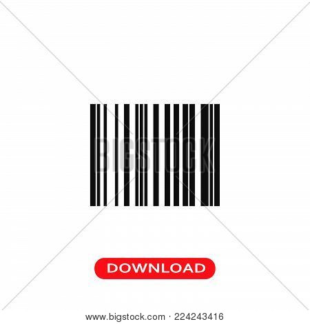 Barcode icon vector in modern flat style for web, graphic and mobile design. Barcode icon vector isolated on white background. Barcode icon vector illustration, editable stroke and EPS10. Barcode icon vector simple symbol for app, logo, UI.