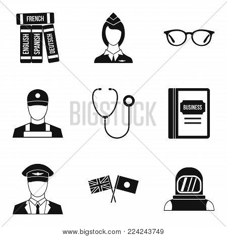 Sensible icons set. Simple set of 9 sensible vector icons for web isolated on white background