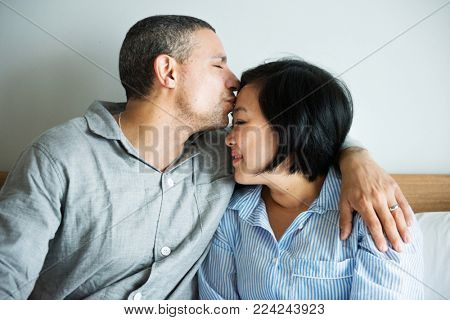 A couple's intimate moment