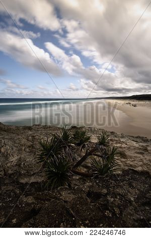 Main Beach On Stradbroke Island, Queensland.