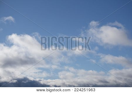 clear sky with clouds soft space stratosphere