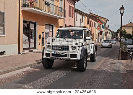Gatteo, Fc, Italy - May 19: Femal Crew On A Mercedes-maybach G650 Landaulet In Rally