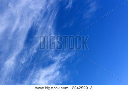 Blue sky idyllic meteorology nature outdoors ozone purity poster