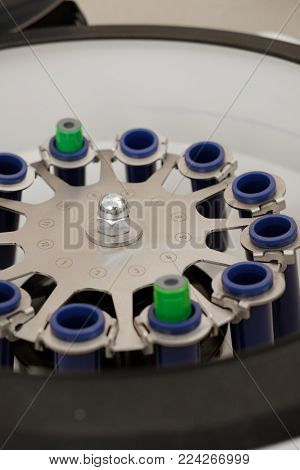 Centrifuge For Blood Test In Medical Laboratory. Platelet-rich Plasma Preparation. Centrifuge Rotor