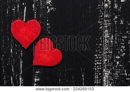 Love concept for mother's day and valentine's day. Valentine. Love. Valentine's Day postcard. Happy Valentine's day hearts on wooden background.