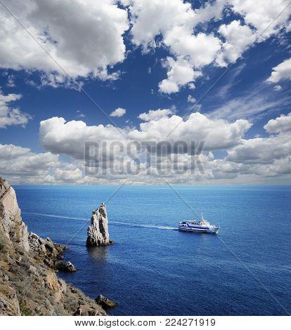 Tropical Blue Sea  And Island