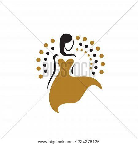 Women shape boutique, spa logo. woman fashion logo, vector