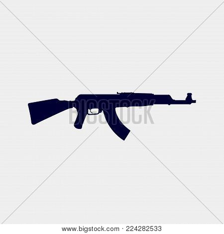 gun icon, Vector illustration. force icon vector