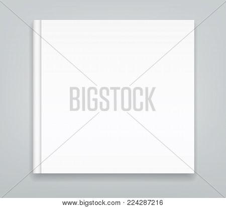 Blank Bi fold brochure mockup cover template.