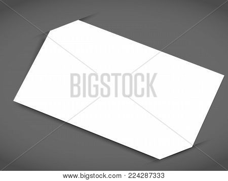 Blank business card with shadow mockup cover template.