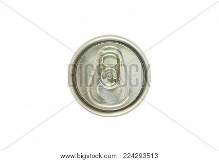Cap of can isolated on white background. This has clipping path