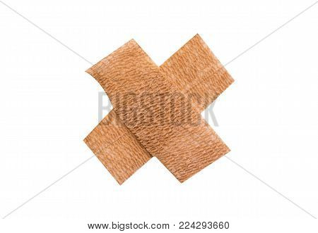 First-aid plaster,Isolated on white with clipping path