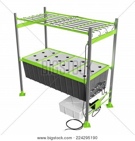 Grow Block with Hole for Hydroponics and aeroponic system