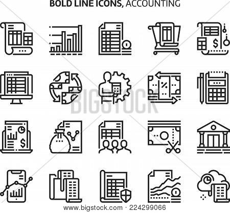 Cleaning Service, Bold Line Icons. The Illustrations Are A Vector, Editable Stroke, 48x48 Pixel Perf