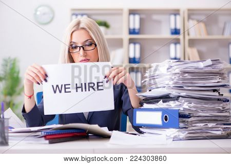 Businesswoman looking for new employees