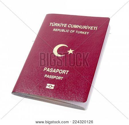 New Turkish Passport Isolated