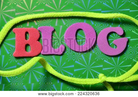 wordd blog on an   abstract colored background