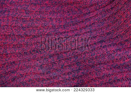 bright red fabric texture of wool clothes