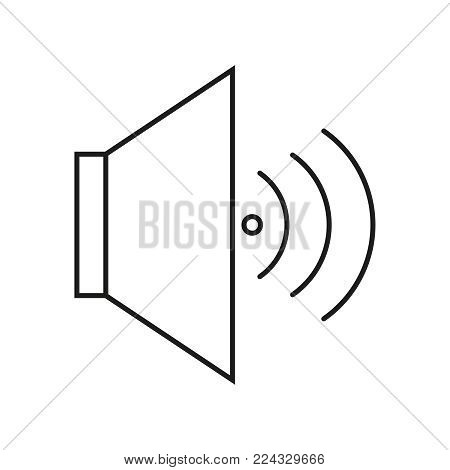 Voice of icon on the white background