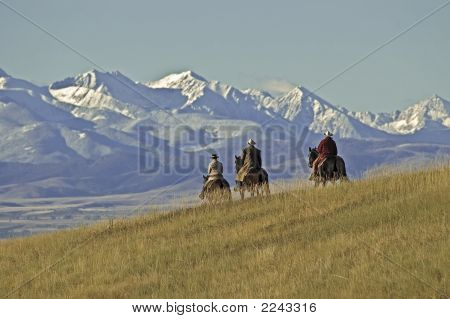 Cowboys On The Range,  A Montana Horse Ranch