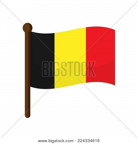 Belgium flag isolated on white background. Vector stock.