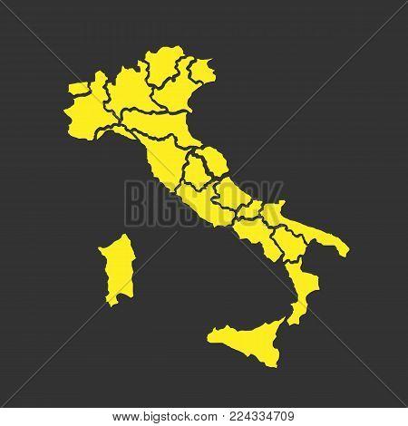 Italy Map Of Regions.Italy Map Regions Vector Photo Free Trial Bigstock
