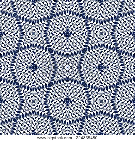 Vector seamless pattern, abstract geometric background illustration, fabric textile pattern